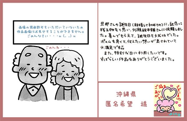 旦那さんの誕生日 沖縄県 匿名希望様