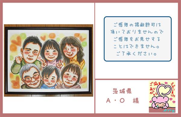 大型ボード 家族集合似顔絵  茨城県 A・O様